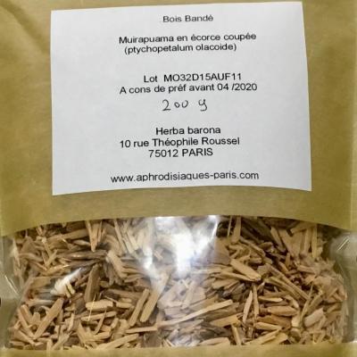 MUIRA PUAMA en écorce coupée (bois bandé) 100 g